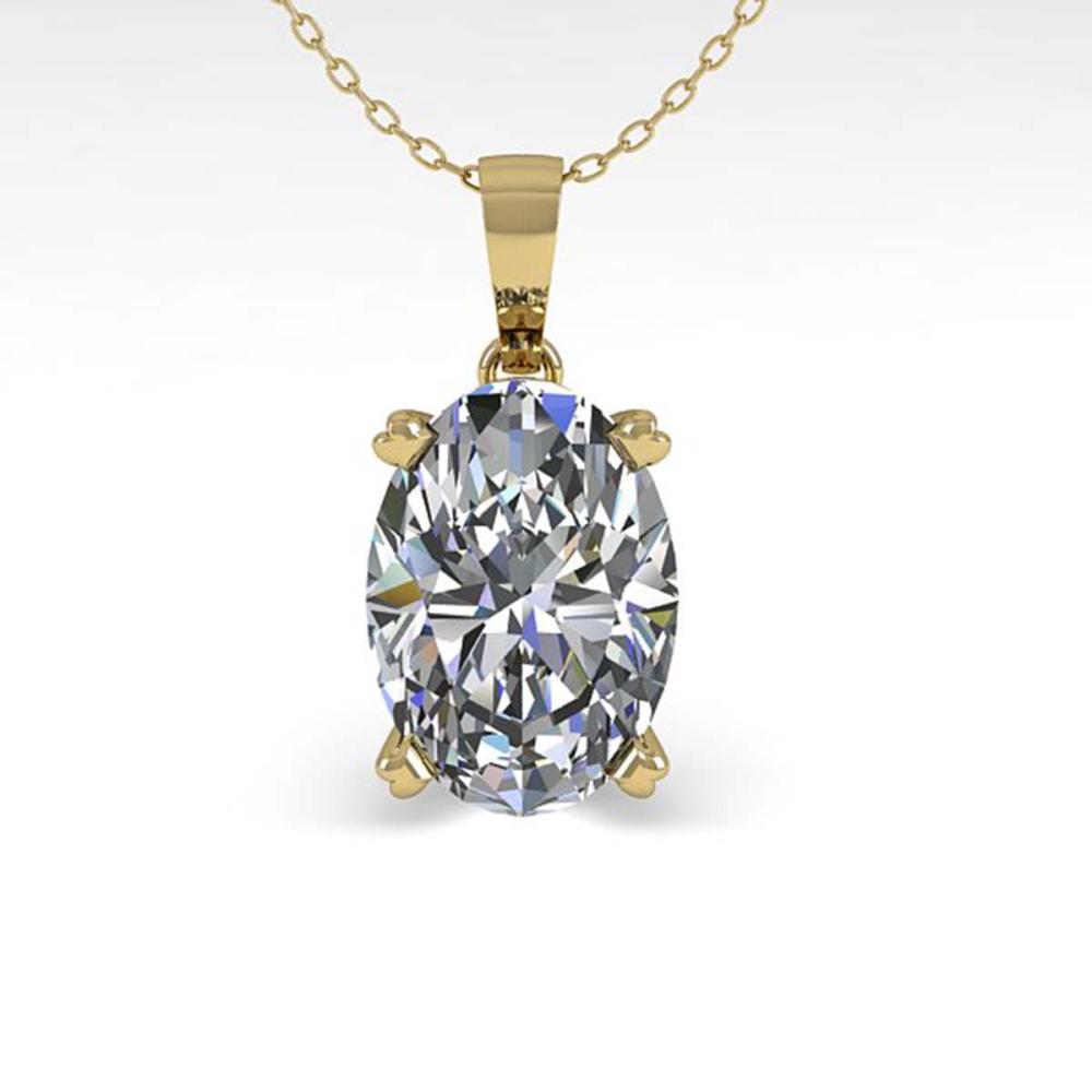 0.50 ctw VS/SI Oval Diamond Necklace 18K Yellow Gold - REF-80F7N - SKU:32344