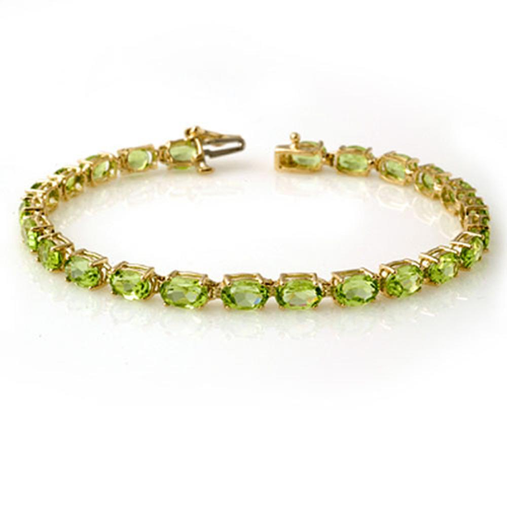 14.0 ctw Peridot Bracelet 10K Yellow Gold - REF-55K3W - SKU:13450
