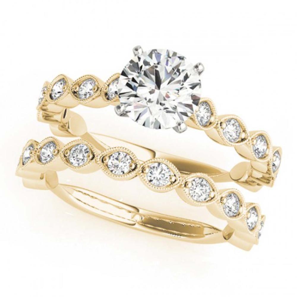 1.77 ctw VS/SI Diamond 2pc Wedding Set 14K Yellow Gold - REF-171F2N - SKU:31612