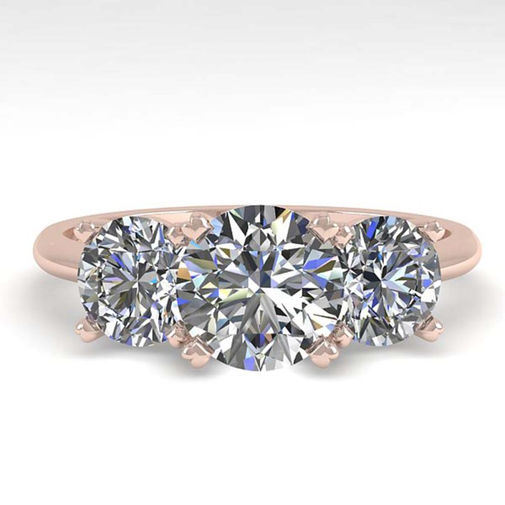 2 ctw VS/SI Diamond Past Present Future Ring 18K Rose Gold - REF-407Y3X - SKU:32462