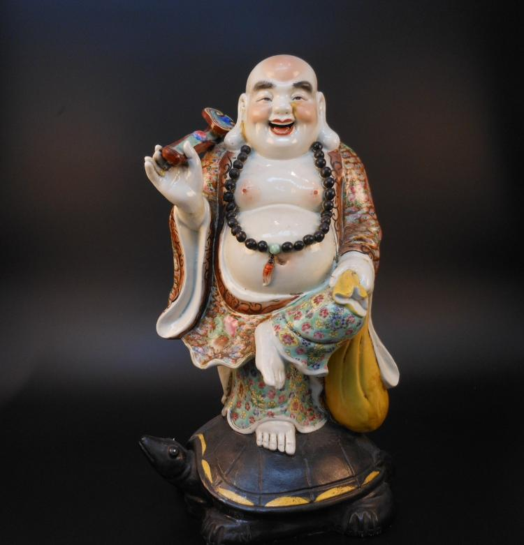 Chinese antique famille rose porcelain Lohan