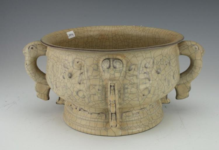 A large Chinese Guan-yao style censer