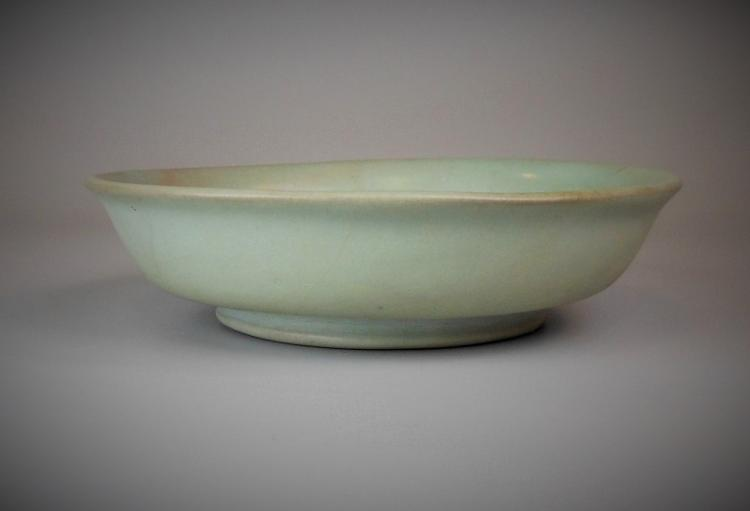 A Chinese song-dynasty Ru-yao celadon dish