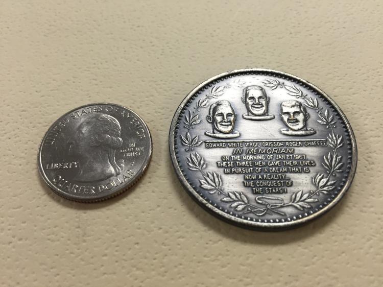 Apollo 1 Memorial Silver Coin