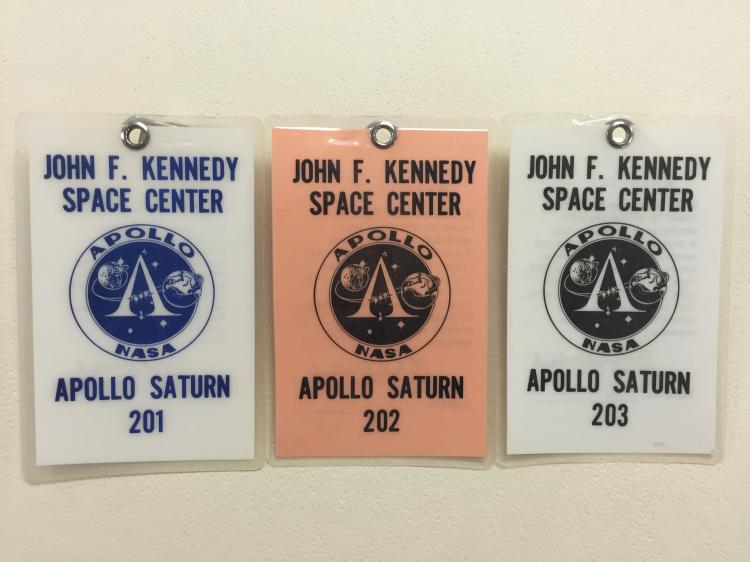 Apollo Launch Viewing Badges AS-201, 202 & 203