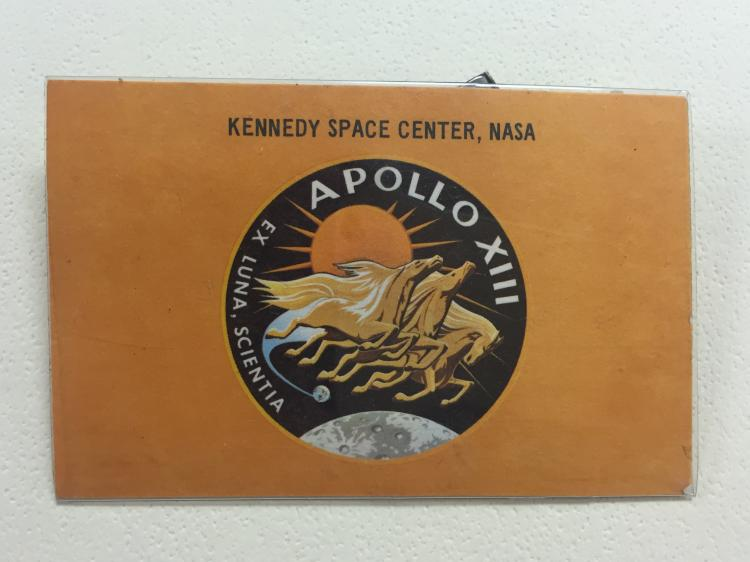 Apollo 13 launch viewing badge