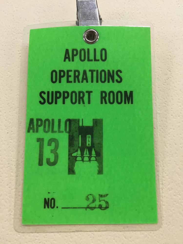 Apollo 13 Operations Support Room Badge