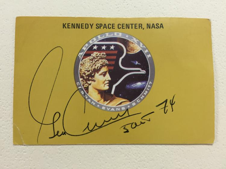 Apollo 17 Signed Launch Viewing Badge