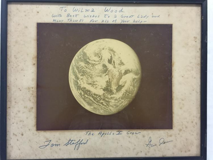 Apollo 10 Earth Photo signed