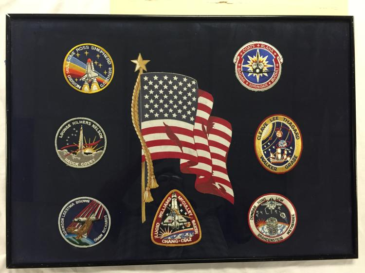 Framed Shuttle Patch Display