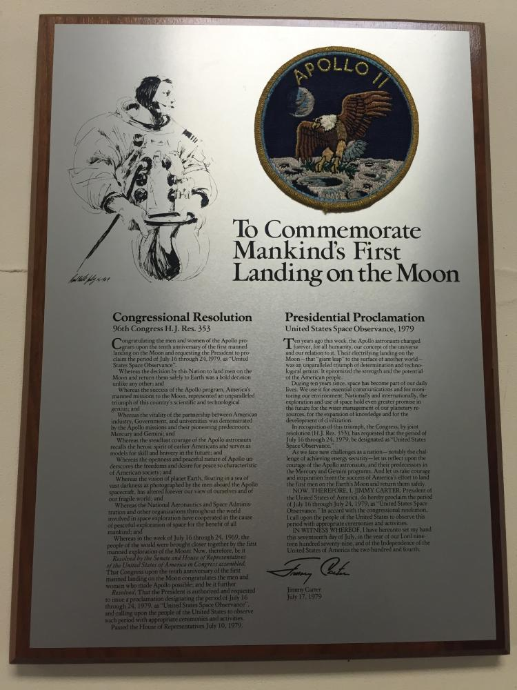 Apollo 11 Unusual Commemorative Plaque