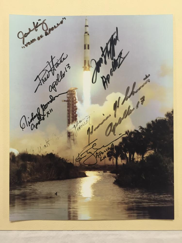 Apollo Launch Photograph Signed