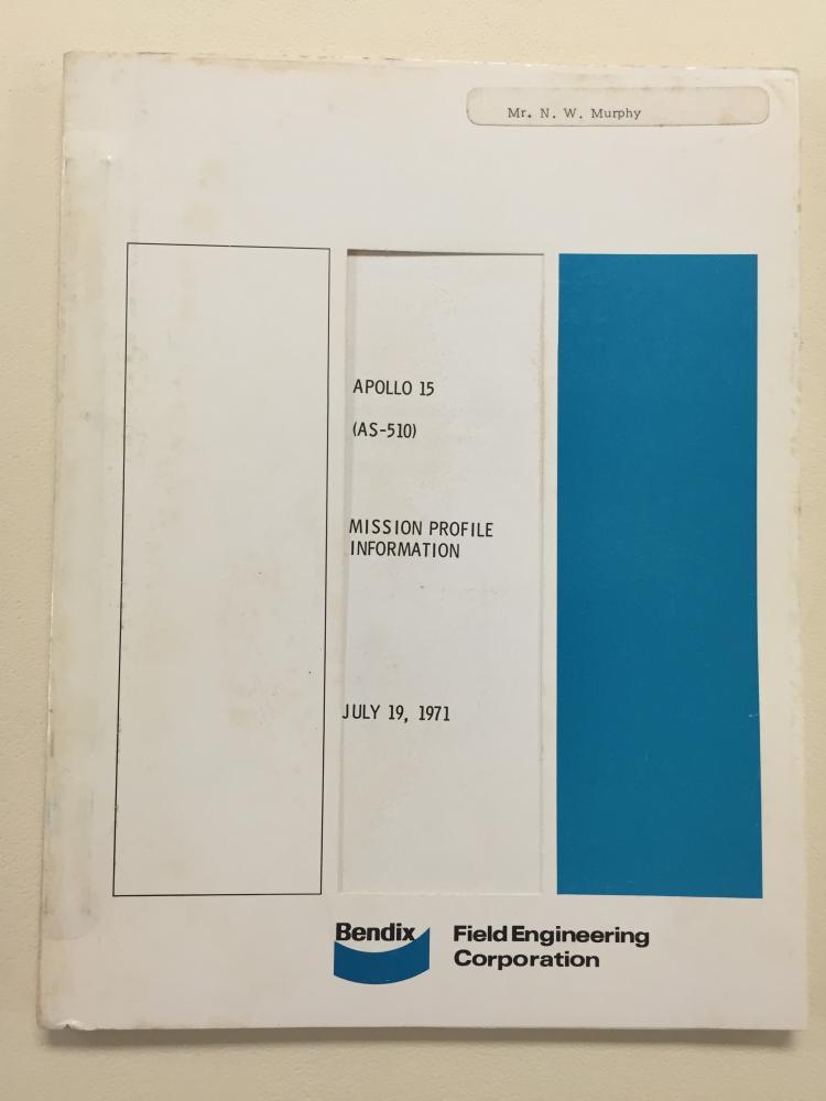 Apollo 15 BENDIX Mission Profile