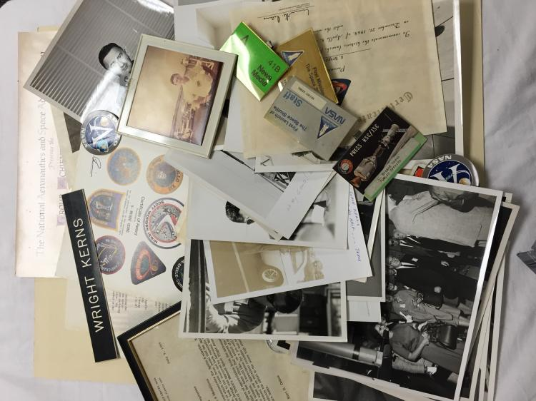 Huge collection of space items from the estate of U. Wright Kerns.