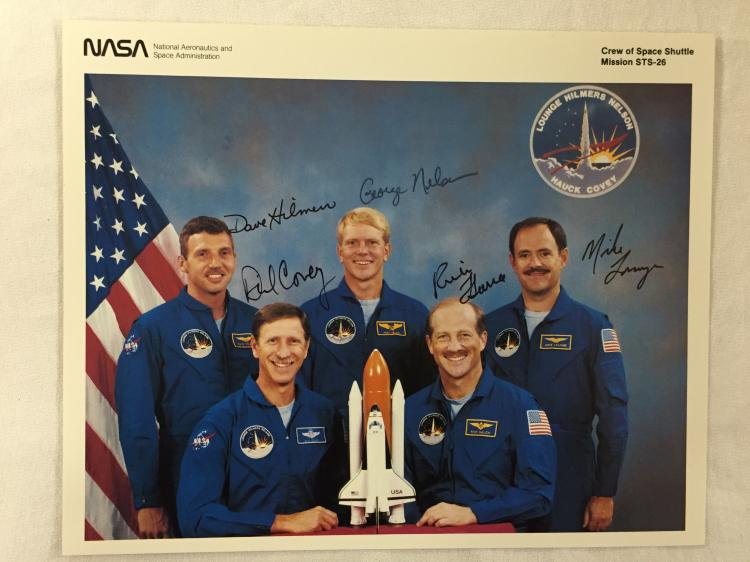 STS-26 Crew Signed NASA Lithograph