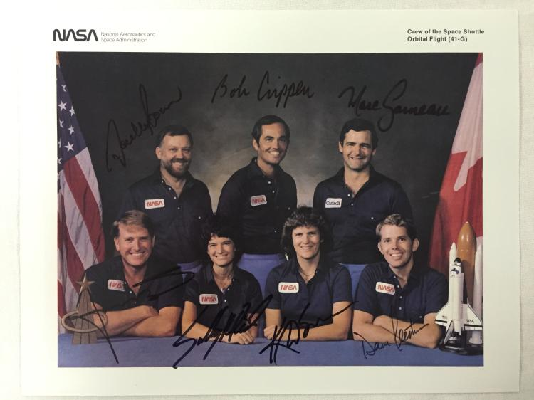 Jon McBride's Crew Signed Lithograph STS-41G