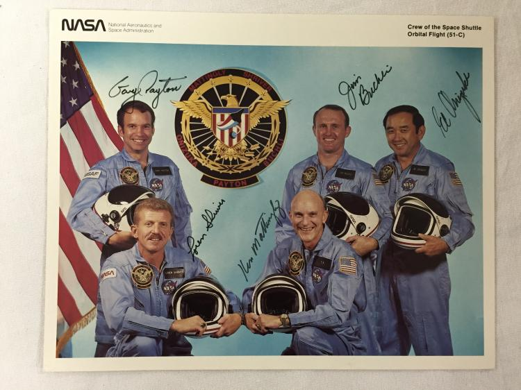 STS-51C Crew Signed Lithograph