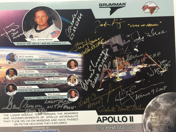 Grumman Anniversary Flyer Signed by Numerous Astronauts