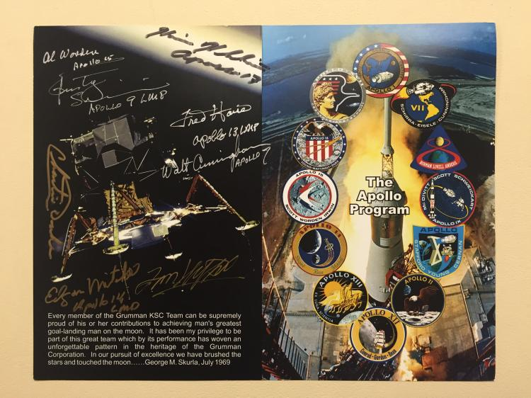 Apollo Grumman Events Program Signed