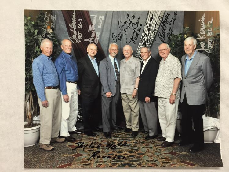 Ed Gibson's Skylab 40th Reunion Crews Signed Photo