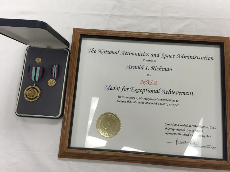 Arnold Richman NASA exceptional achievement award