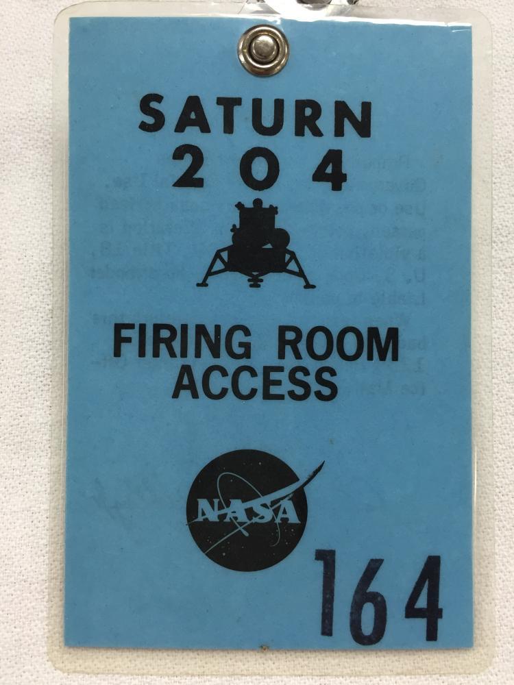 AS204/Apollo 5 firing room access badge #164
