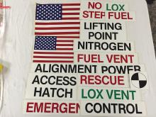 At least 15 or more different original KSC-NASA high-grade decal stickers