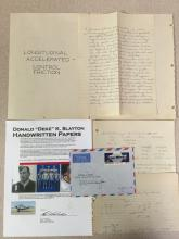 Deke Slayton's Hand written papers