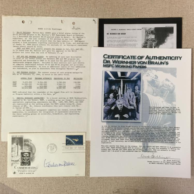 Dr. Wernher von Braun items