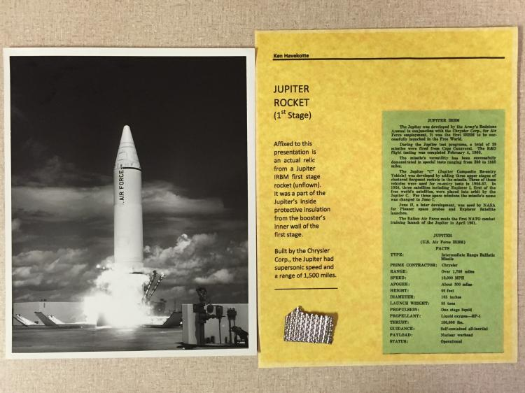 Early Jupiter rocket relic