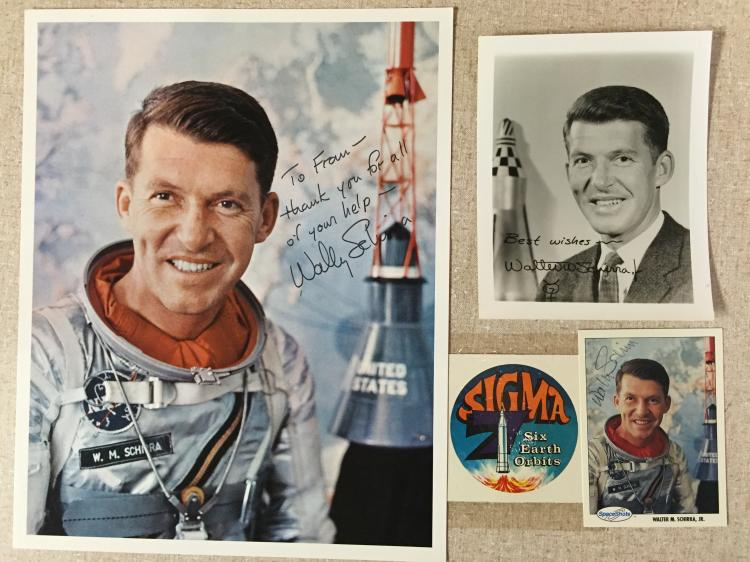 Wally Schirra signed items