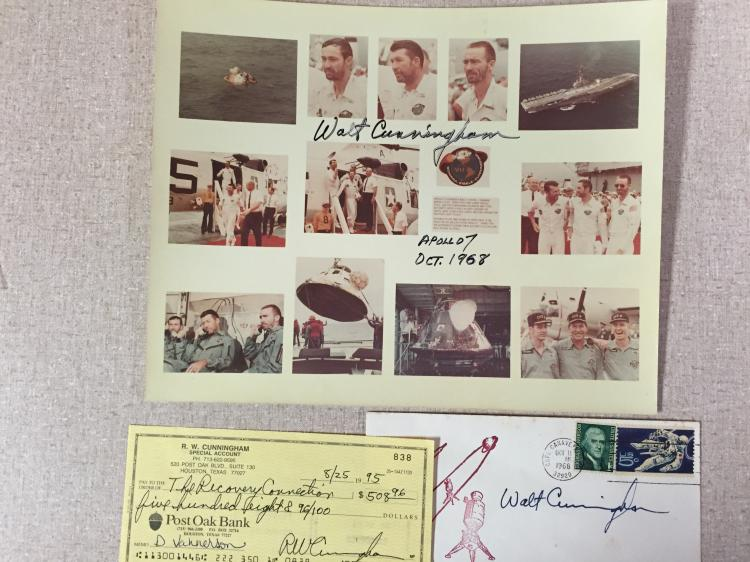 Walt Cunningham signed items