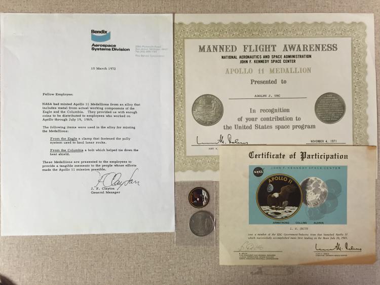 Apollo 11 MFA award and coin