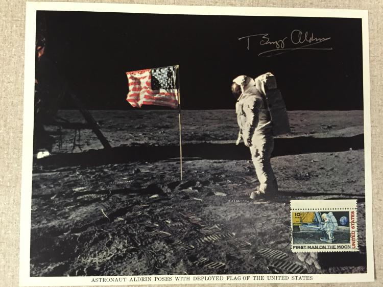 Rare Aldrin signed First day of issue