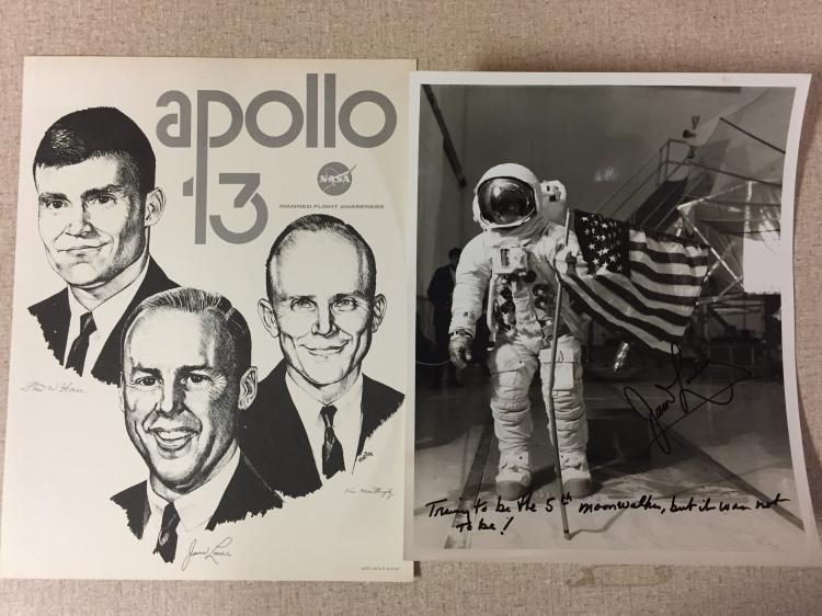 Great Jim Lovel inscribed glossy photo