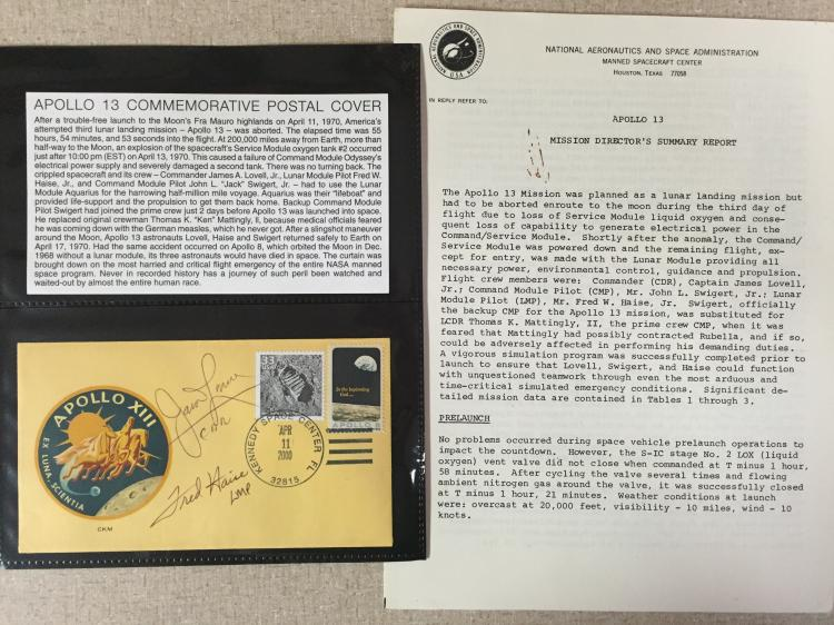 Fred Haise's Apollo 13 signed cover