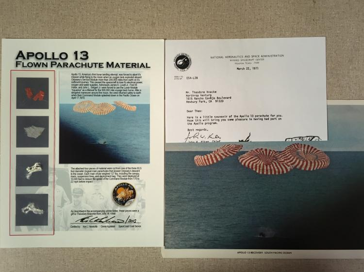 Apollo 13; Flown parachute material