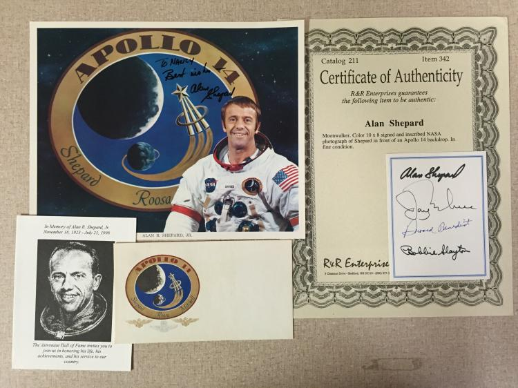 Alan Shepard signed items