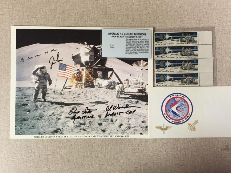 Apollo 15 Crew Signed litograph