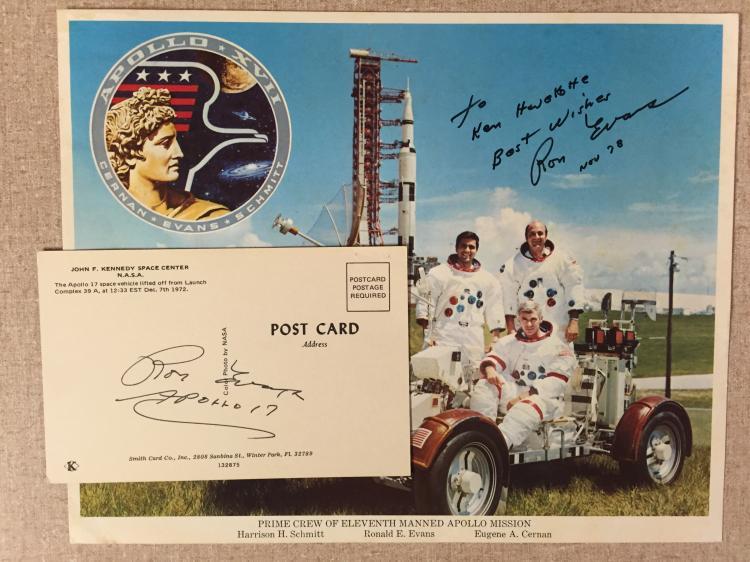 Apollo 17 Crew lithograph signed