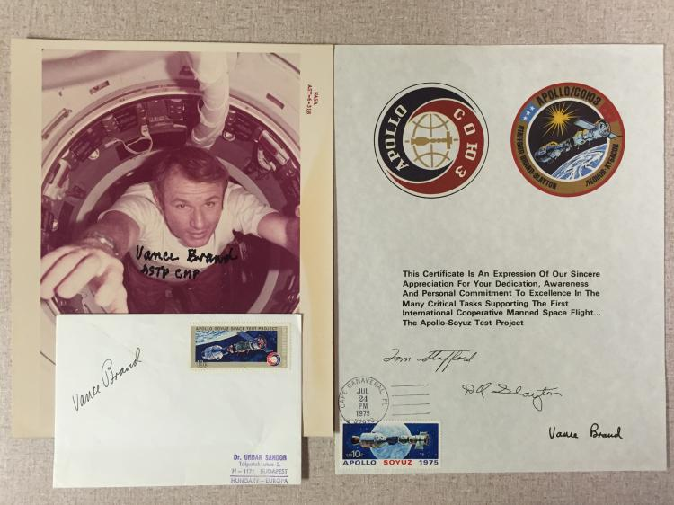 ASTP Astronaut Vance Brand signed items