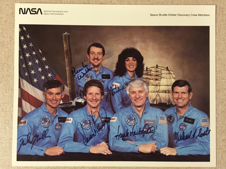 STS- 41D Shuttle crew signed, not inscribed