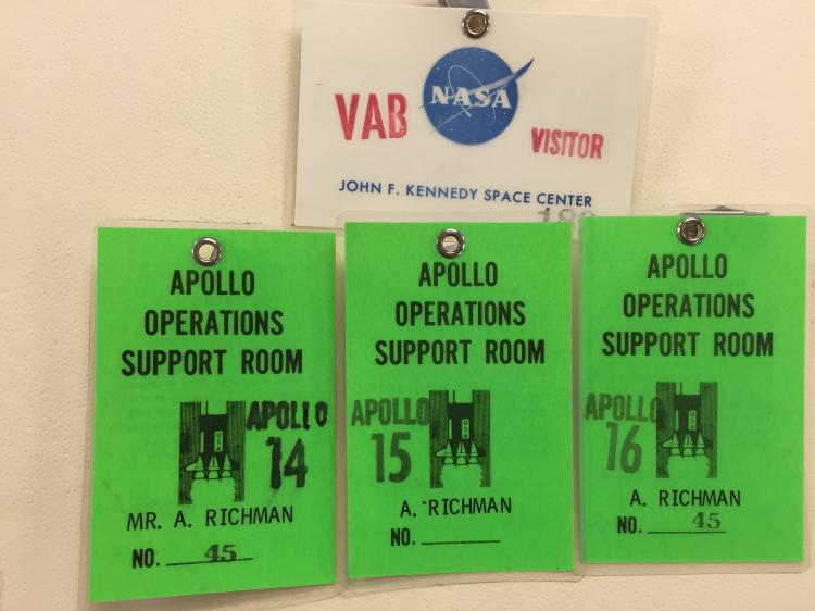 Apollo Operations Support Badges 14, 15, 16 & VAB Access