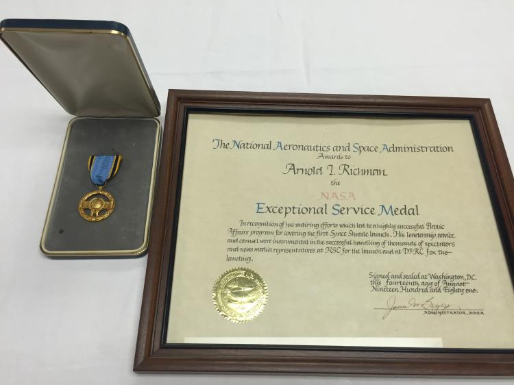Arnold Richman NASA exceptional service award