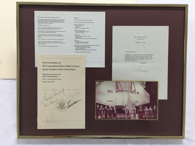 Apollo Astronaut and President Carter signed Event Items with badges and passes