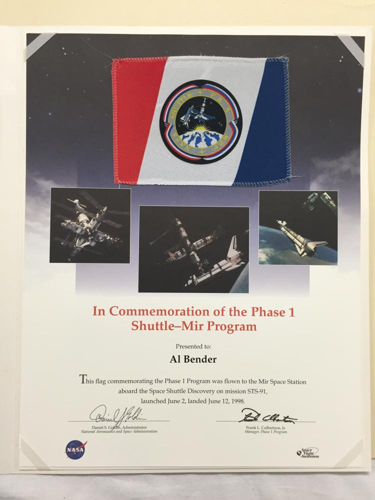 STS-91 Flown Flag and Binder