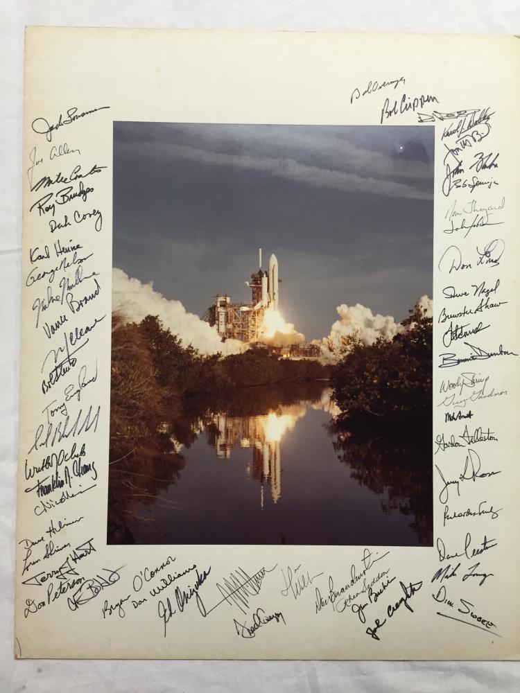 Jon McBride's STS-1 Launch Photo