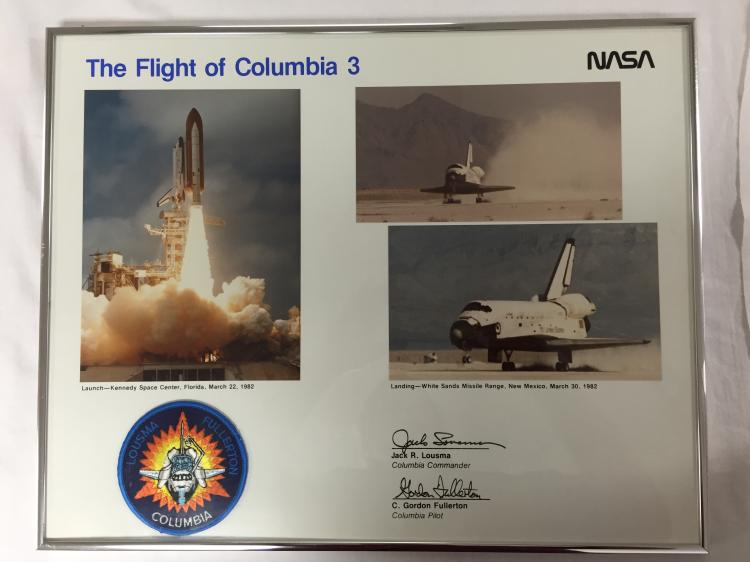 Jack Lousma's Flight of Columbia 3 Framed Collage