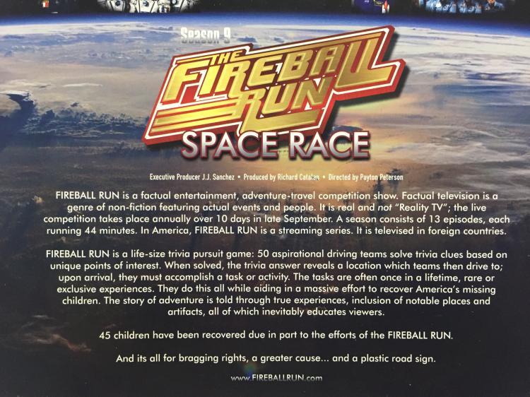 Jon McBride's Fireball Run signed Flyer with Patch
