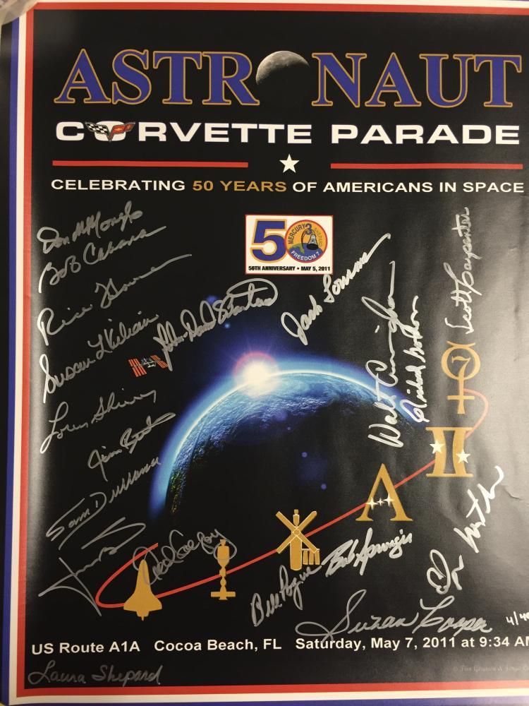 Jon McBride's Astronaut Corvette Parade Poster